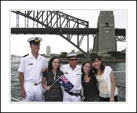 Australia Day 2006 - Gascoyne crew, Naomi, Leanne and Kinuyo