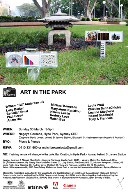 Art in the Park Picnic, Sunday 30 March 2008