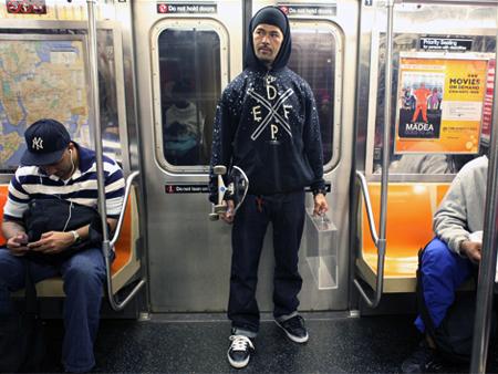 New Yor Portrait 109 skater on Train